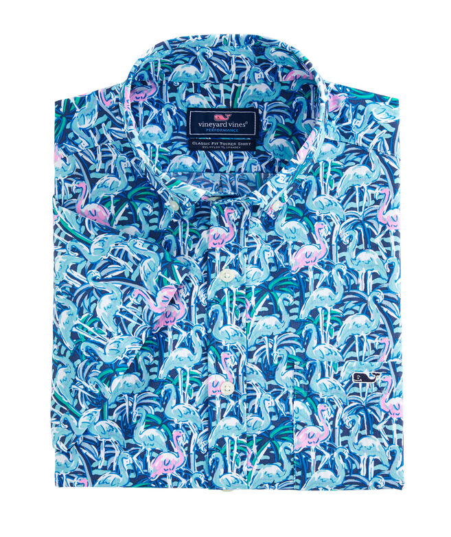 Classic Fit Windjammer On-The-Go Performance Tucker Short-Sleeve Button-Down Shirt