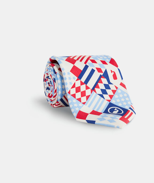 Kentucky Derby Patchwork Printed Tie