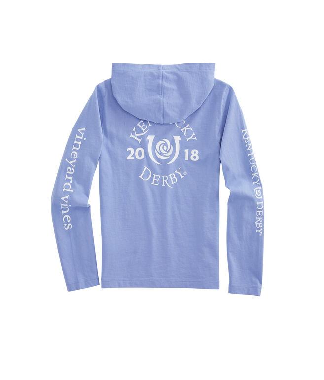 Girls Long-Sleeve Kentucky Derby Logo Hoodie Pocket Tee