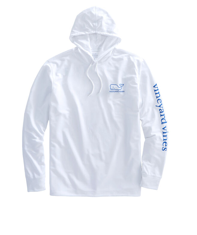 7e08c8d9121 Long-Sleeve Whale Performance Hoodie T-Shirt