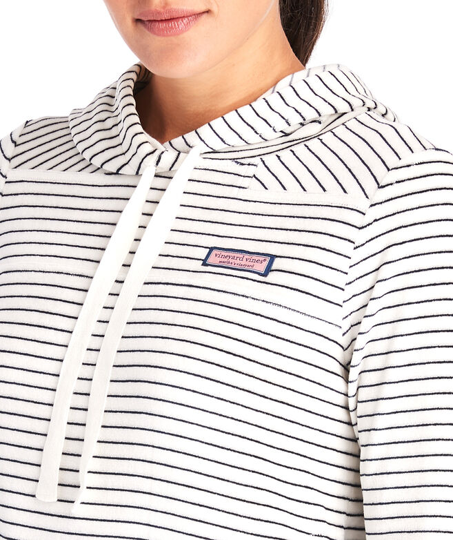 Striped Velour Hoodie Shep Shirt