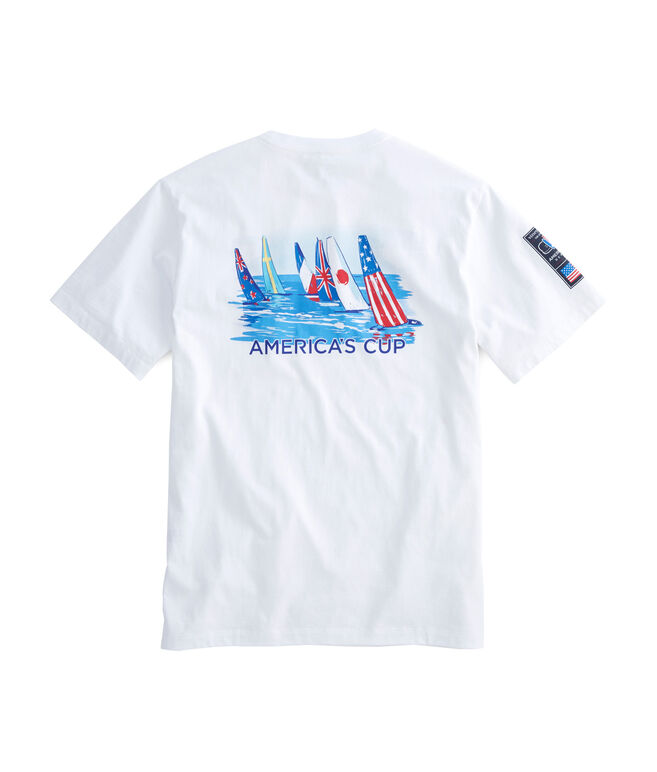 America's Cup Race To The Finish Pocket T-Shirt