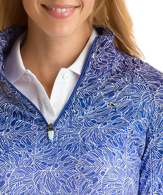 Ombre Printed 1/4-Zip