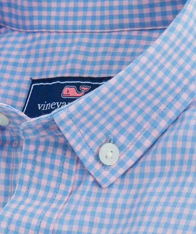 Boys Alicetown Gingham Whale Shirt
