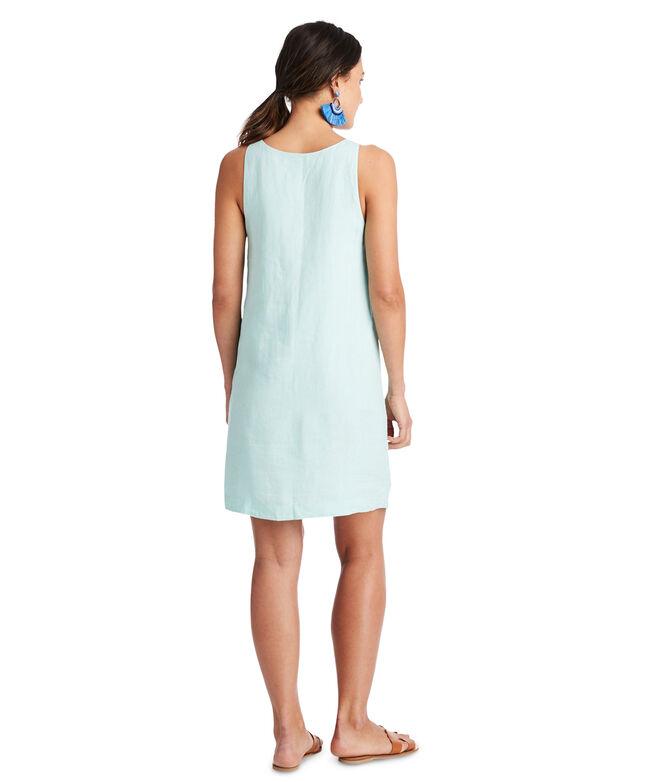 Linen Pintuck Cisco Swing Dress
