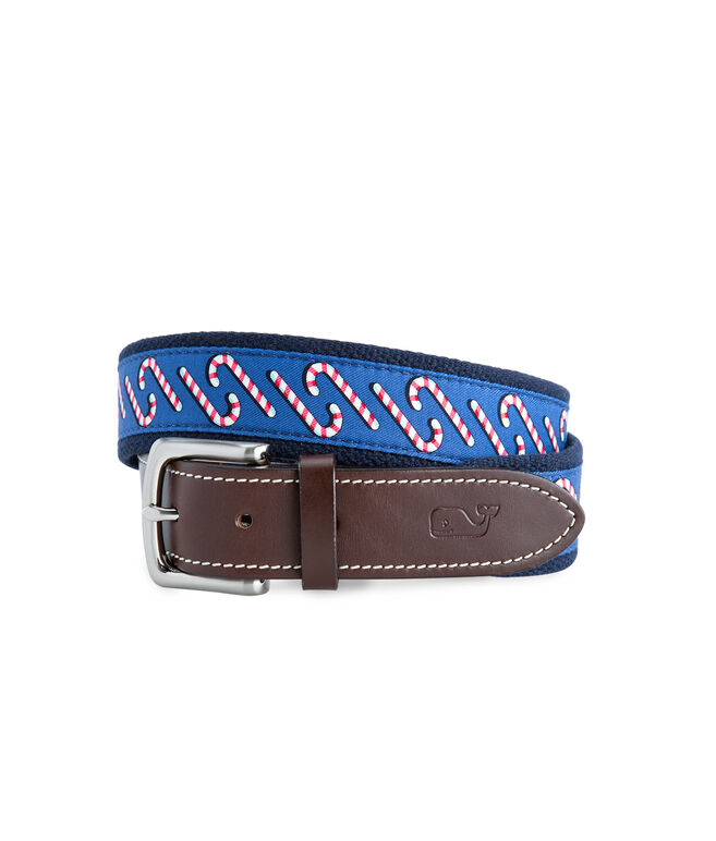 Candy Cane Canvas Club Belt