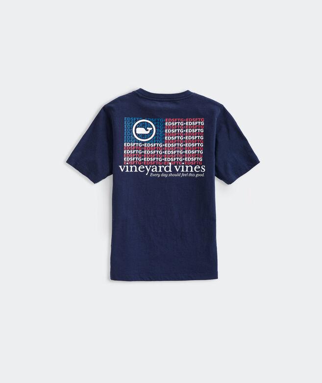 Boys' EDSFTG Flag Long-Sleeve Pocket Tee