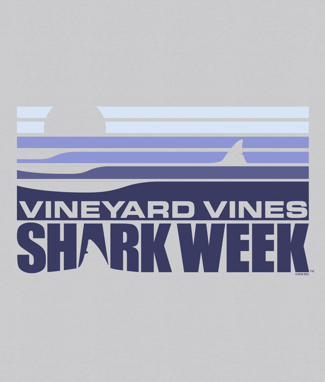 Mens Shark Week Sunset Shark Fin T-Shirt