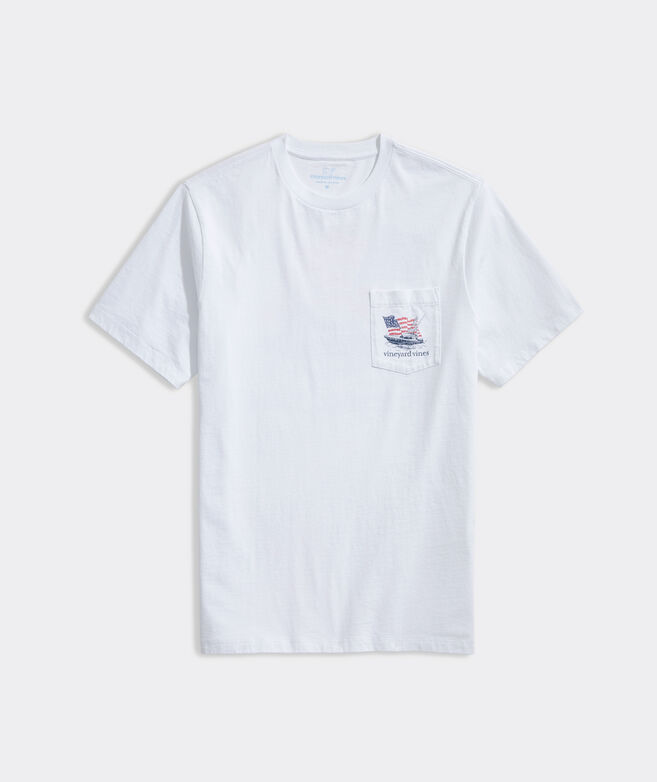 USA Sportfisherman Short-Sleeve Pocket Tee