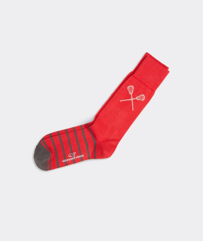 Striped Lacrosse Icon Sock
