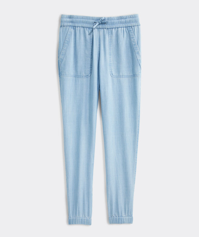 Girls' Chambray Joggers