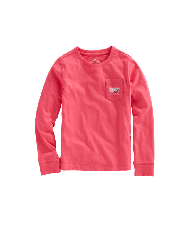 Girls Long-Sleeve Cupid Whale Pocket Tee