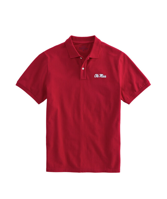 University of Mississippi Ole Miss Stretch Pique Polo