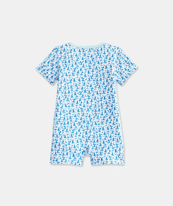 Baby Printed Knit Shortie One-Piece