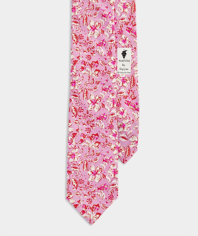 Hibiscus Floral Printed Tie