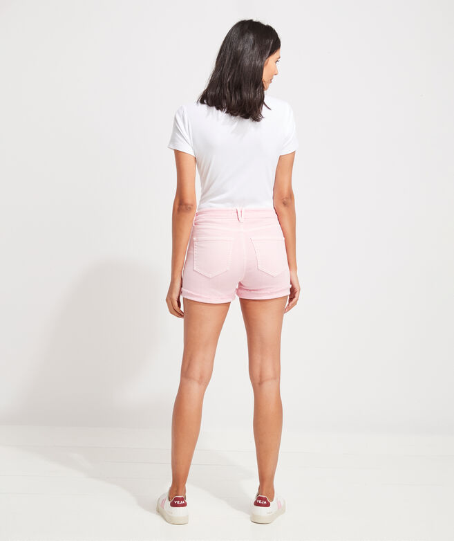 Jaime High-Rise Garment-Dyed Shorts