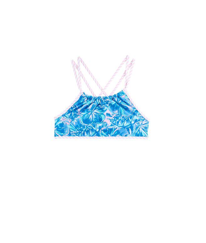Girls Tropical Turtles Bikini Top