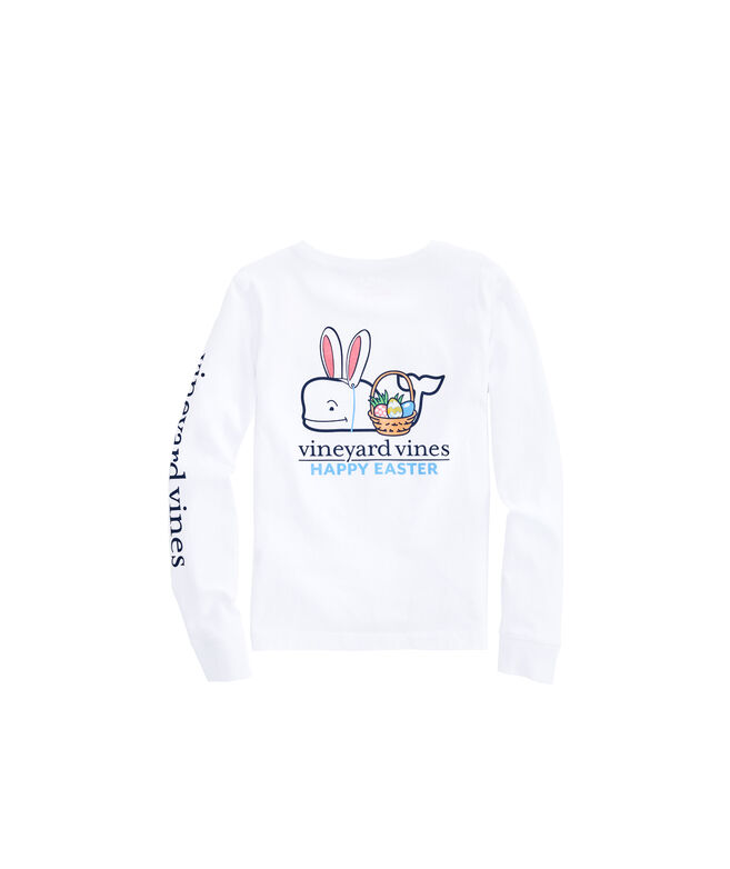Girls Long-Sleeve Easter Pocket Tee