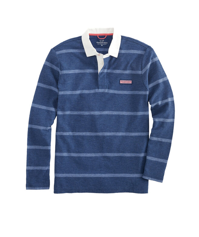 Big & Tall All Over Stripe Rugby Shirt
