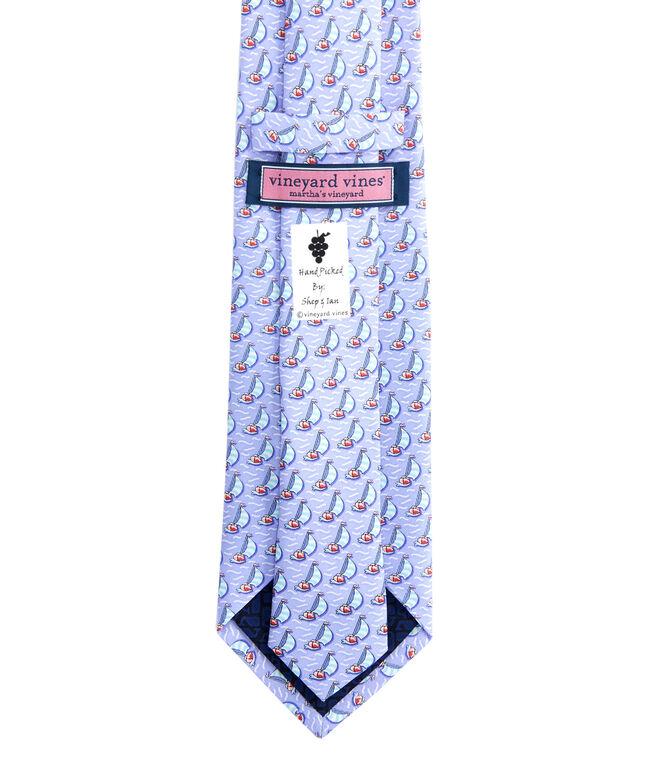 Sailboat Printed Tie