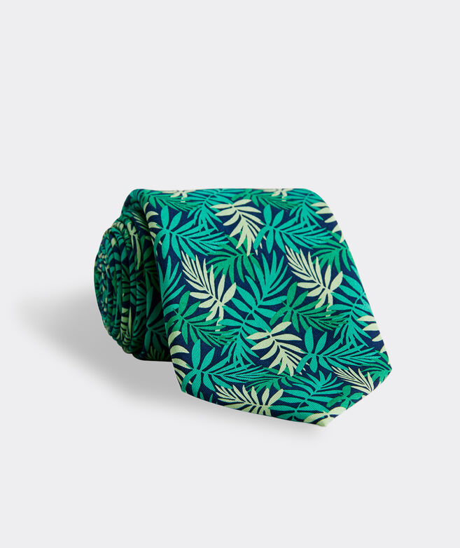 Allover Palms Printed Tie