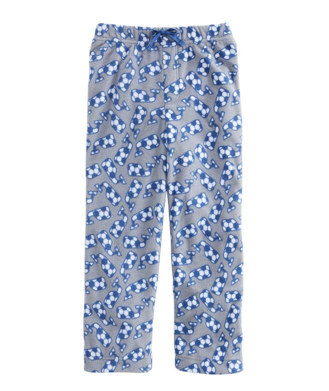 Boys' Whale Fleece Pajama Pants