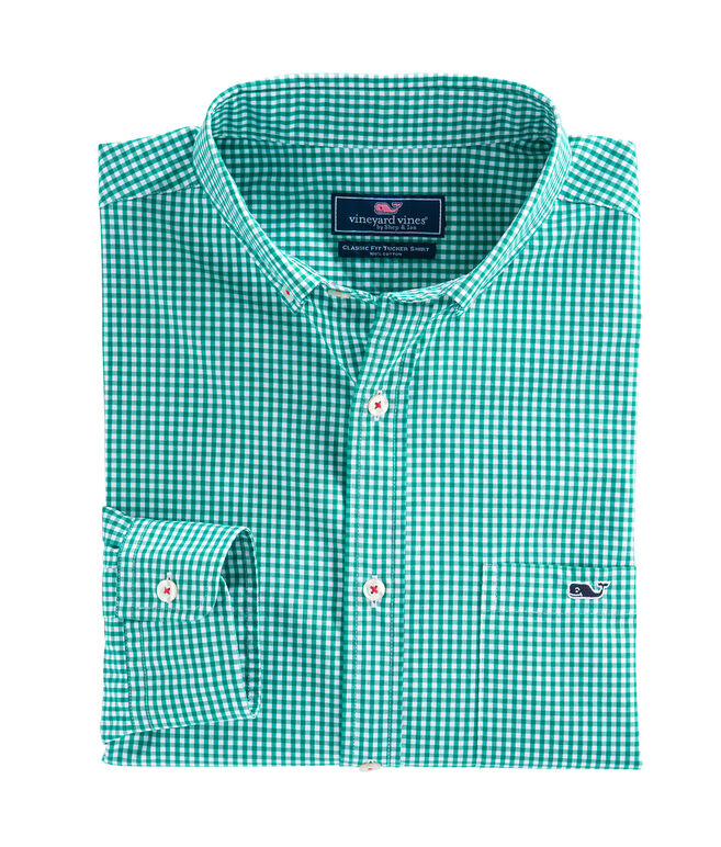 Old Town Gingham Classic Tucker Shirt