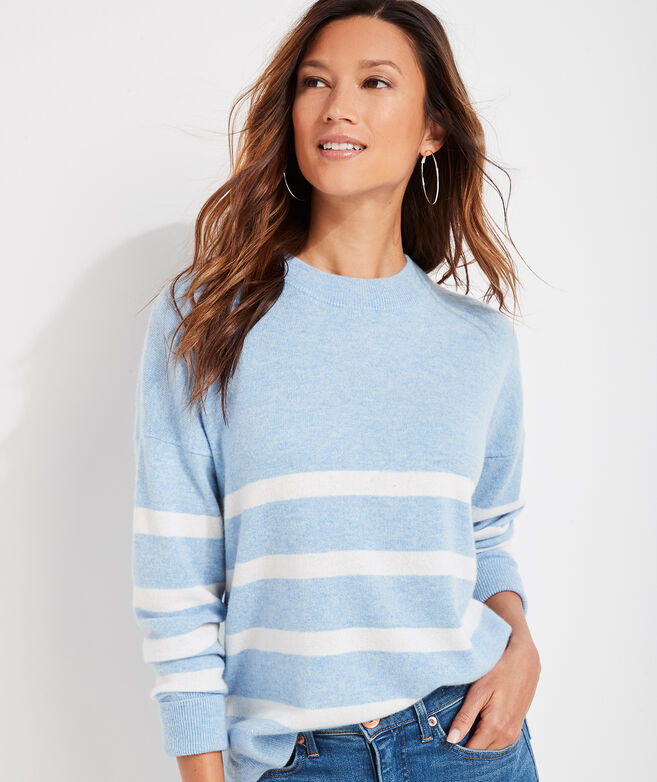 Cashmere Fine Gauge Stripe Sweater