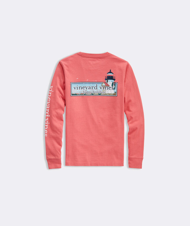 Boys' Lighthouse Logo Box Long-Sleeve Pocket Tee