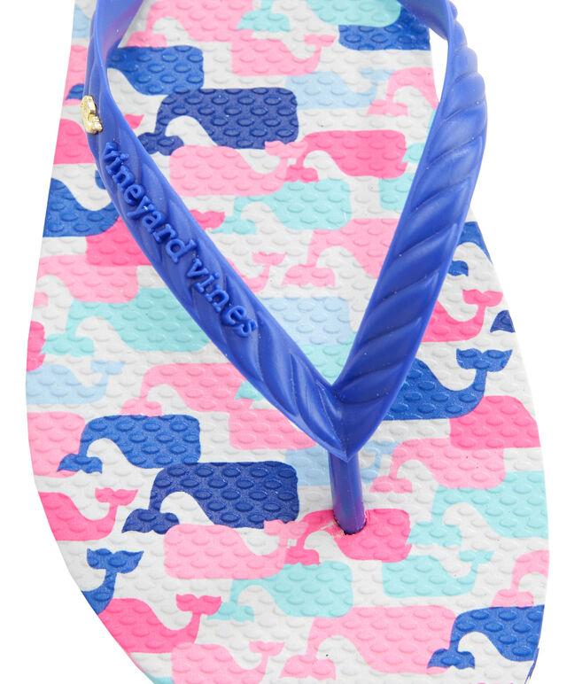 Girls Multi Whale Flip Flops