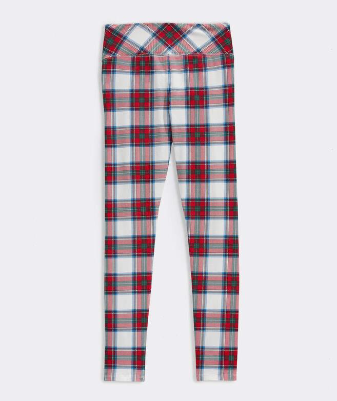 Girls' Nantucket Tartan High Waisted Leggings