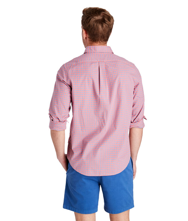 Gingham Madras Slim Tucker Shirt