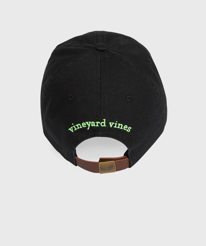 Whale Logo Leather Strap Baseball Hat