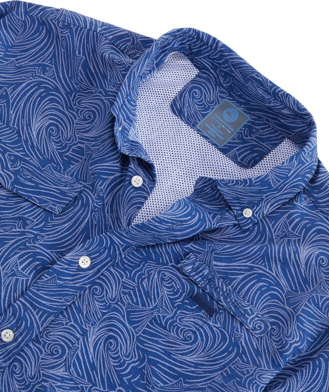 Surf No Turf Short-Sleeve Harbor Shirt