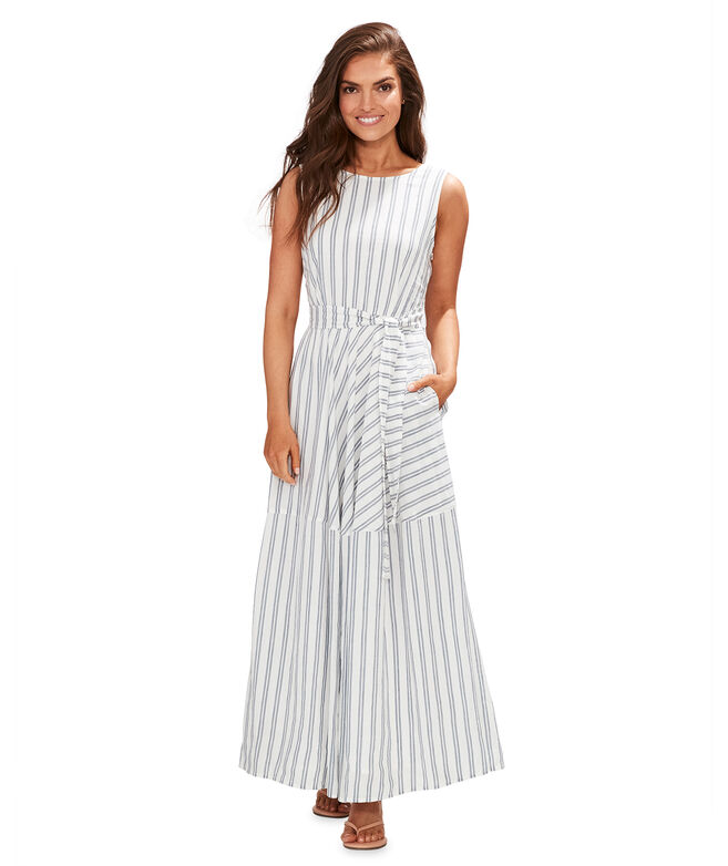Mixed Stripe Maxi Dress