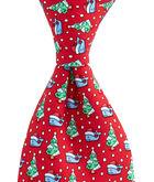 Boys Santa Whale & Tree Tie