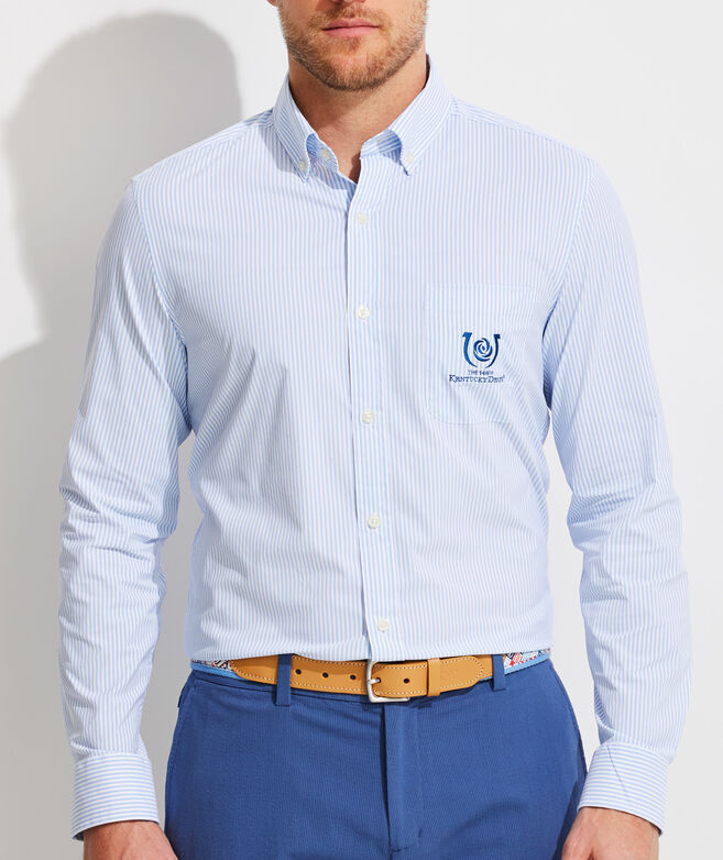 Classic Fit Kentucky Derby On-The-Go Performance Murray Button-Down Shirt