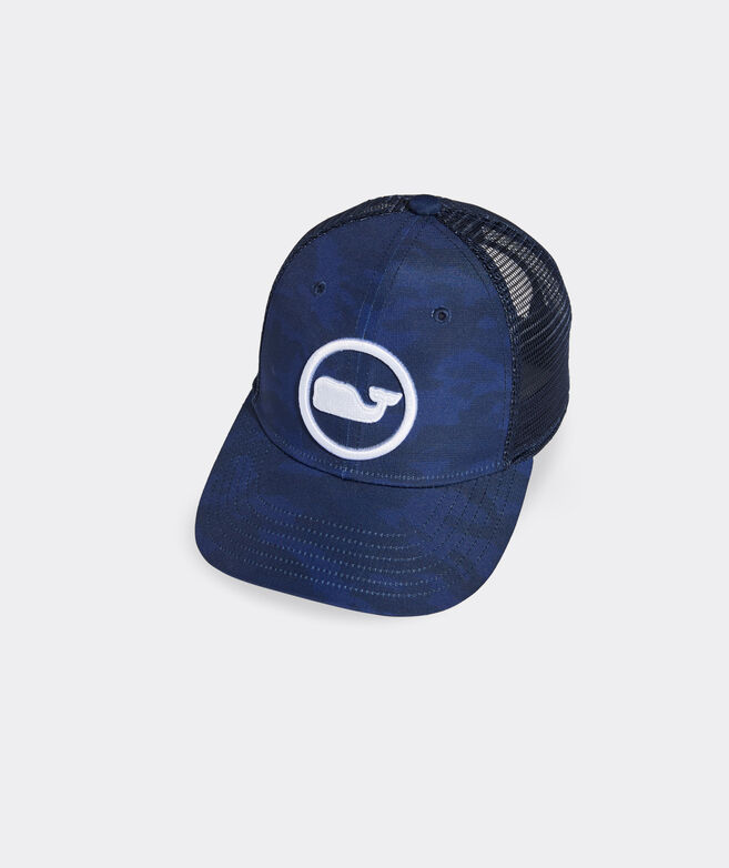 Camo Whale Dot Trucker Hat