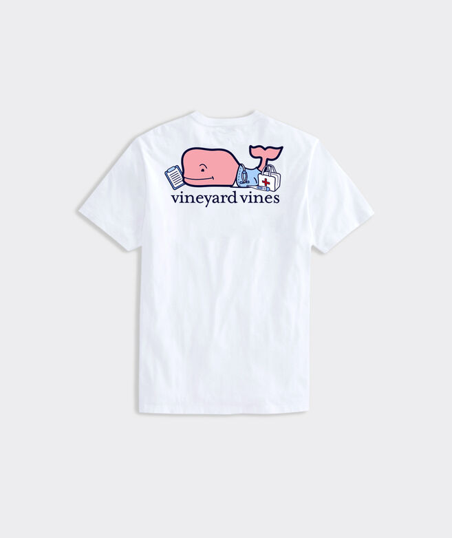Limited-Edition Nurse Whale Short-Sleeve Pocket Tee