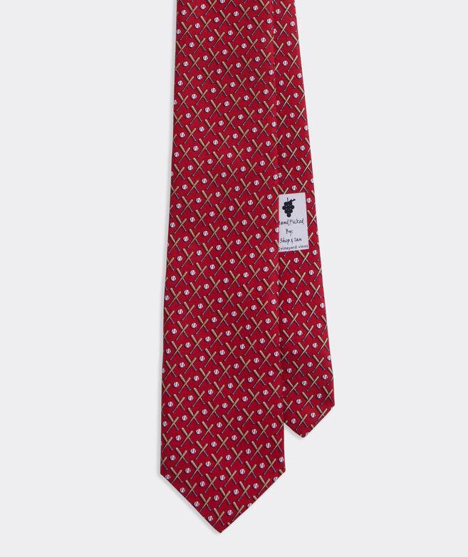 Baseball Printed Extra Long Tie
