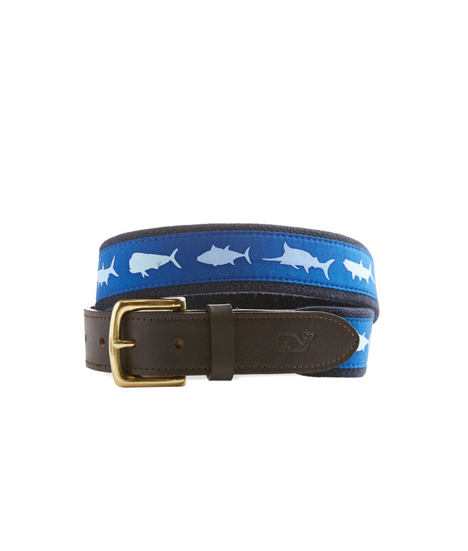 Fish Icon Canvas Club Belt