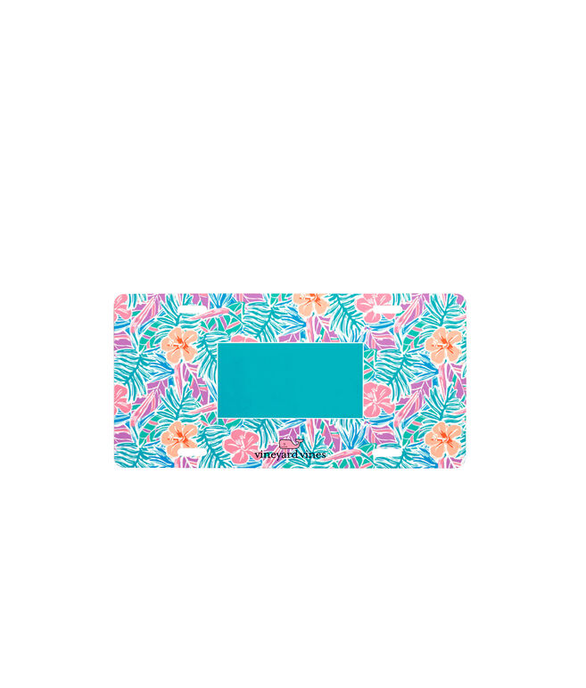Monogrammed Gulf Tropical Chappy Vanity Plate