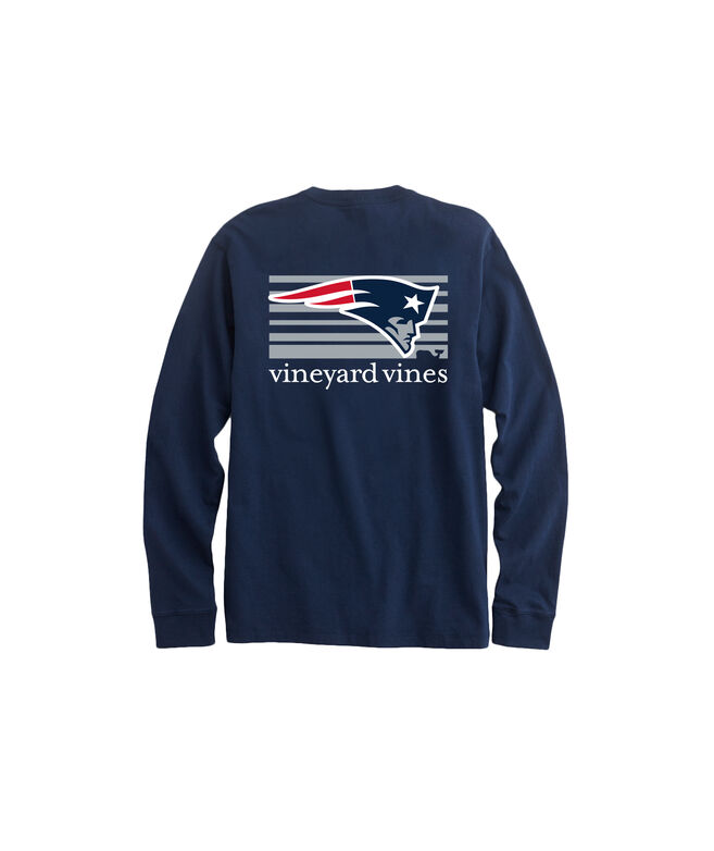 Adult Long-Sleeve New England Patriots Long-Sleeve Block Stripe T-Shirt