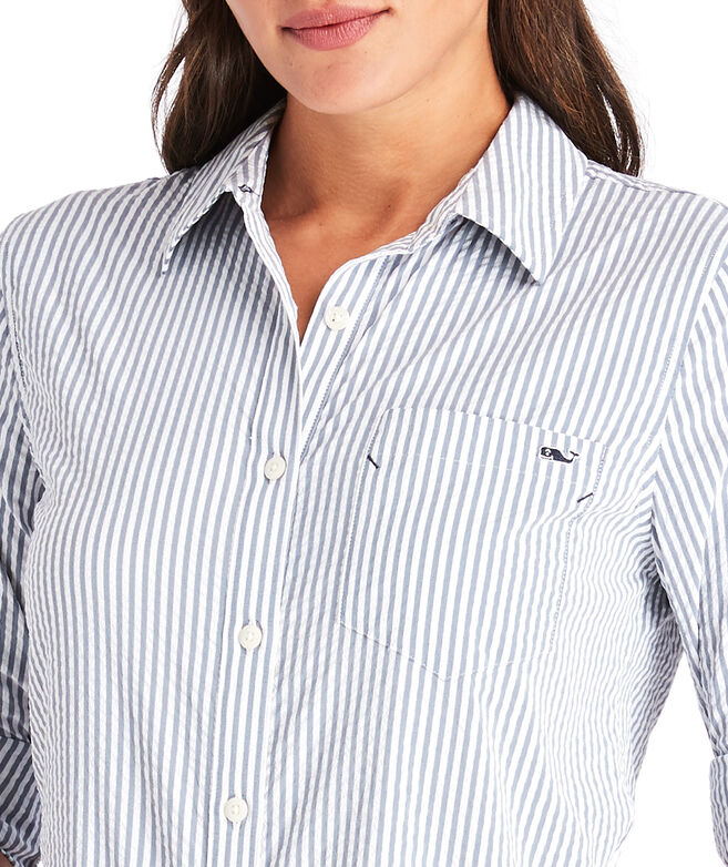 Seersucker Chilmark Relaxed Button Down