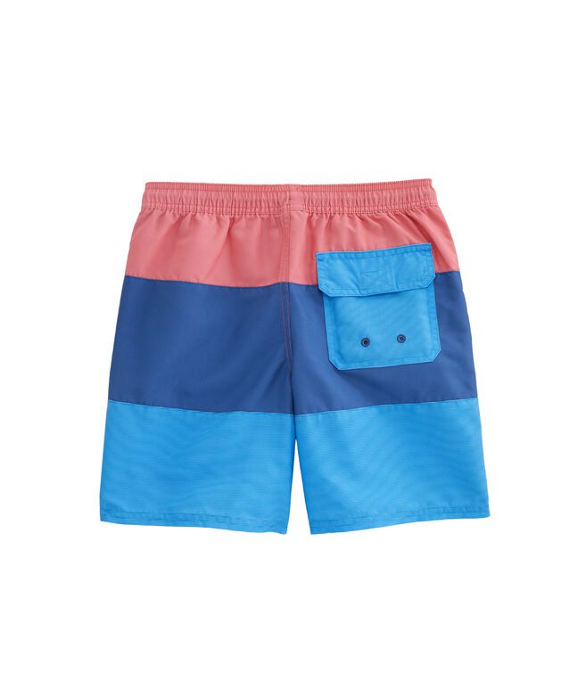 Boys Tri-Color Pieced Chappy Trunks