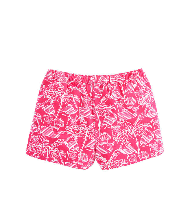 Girls Flamingo Print Pull On Shorts