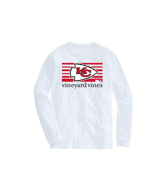 Kansas City Chiefs Long-Sleeve Block Stripe T-Shirt