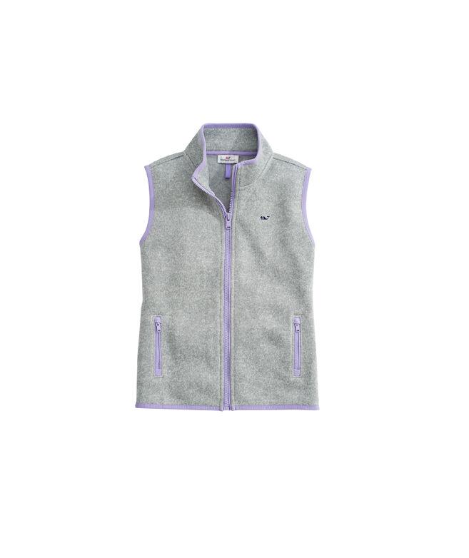 OUTLET Girls' Solid Sweater Fleece Vest