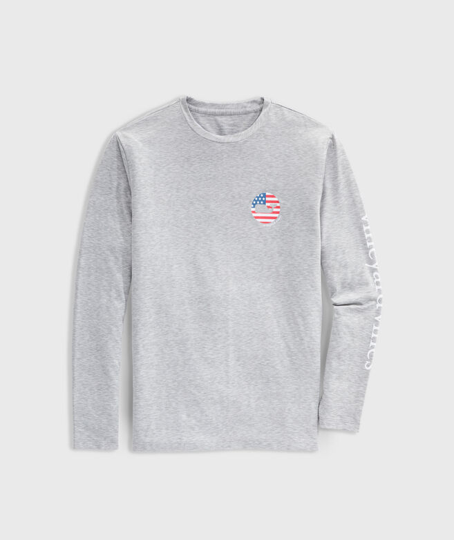 USA Space-Dyed Long-Sleeve Performance Tee