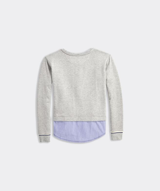 Girls' Dreamcloth Mixed Media Sweatshirt